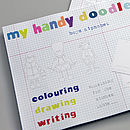 Boy's Handy Alphabet Doodle Pad