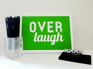 'Overlaugh' Typography Art Print
