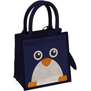 Penguin Jute Bag - baby's room