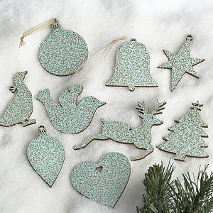 vintage duck egg blue christmas and wedding gift tags by artcuts notonthehighstreetcom - Duck Egg Blue Christmas Decorations