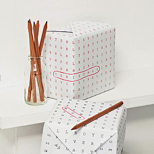 Word Search Wrapping Paper Standard - cards & wrap