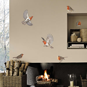 Robin Vinyl Wall Sticker Set - christmas home accessories
