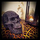 Frosted Decorative Crystal Skull