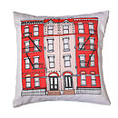 New York Brooklyn Townhouse Cushion