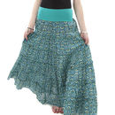 Sea Green Cotton Gypsy Maxi Skirt