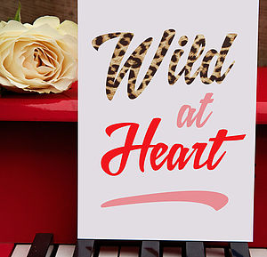 'Wild At Heart' Greeting Card