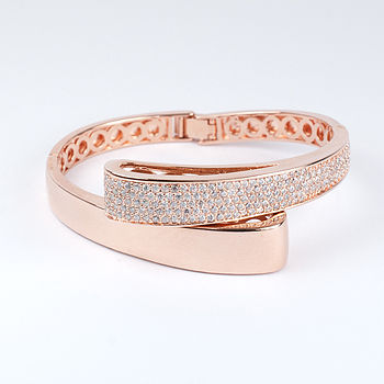 Rose Gold Asymmetrical Bangle