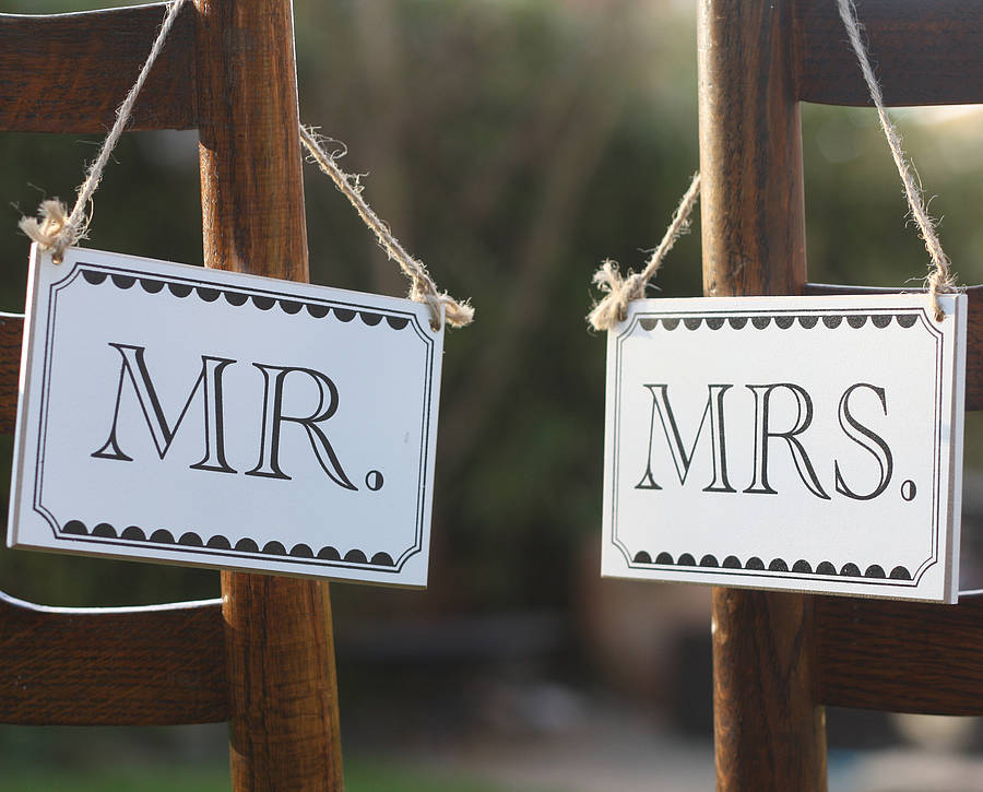 Mr And Mrs Wooden Signs By The Wedding Of My Dreams