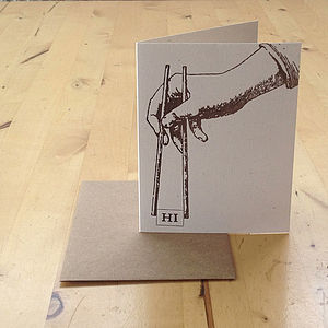 'Hi' Chopsticks Card