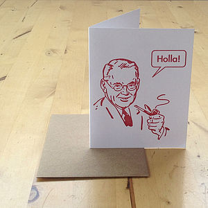 'Holla!' Greeting Card