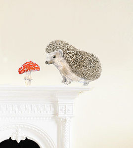 Hedgehog Wall Stickers - decorative accessories