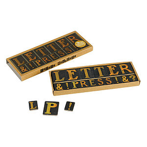 Letterpress Fridge Magnets - room decorations