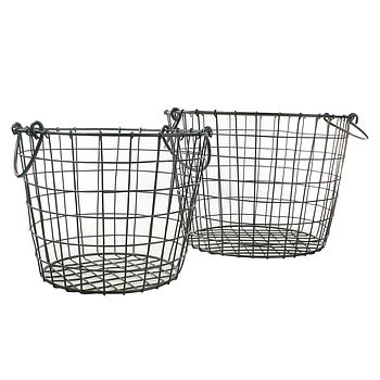 Round Darby Metal Baskets A Set Of Two