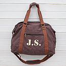 Personalised Canvas Weekend Bag