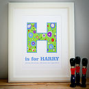 Personalised Childrens 'Alphabet' Print
