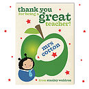 Personalised Thank you Teacher Boybug Card