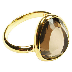 Cressida Ring Gold And Smoky Quartz
