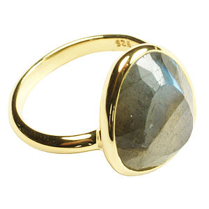 Cressida Ring Gold And Labradorite