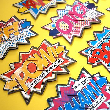 Mix & Match Pack Of Four Comic Cracker Cards