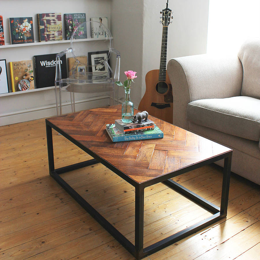 Floor Coffee Table: Upcycled Parquet Floor Coffee Table By Ruby Rhino