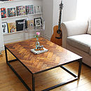 Large Upcycled Parquet Floor Coffee Table