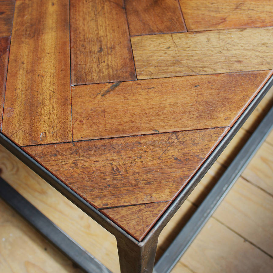 Large Upcycled Parquet Floor Coffee Table By Ruby Rhino