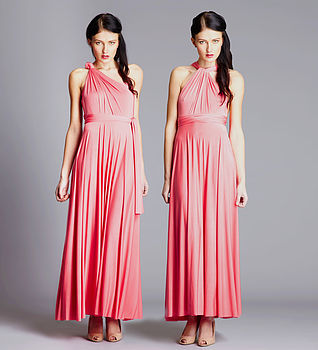 Multiway Maxi Dress in Light Coral