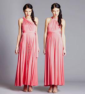 Multi Way Maxi Length Bridesmaid Dress - wedding fashion