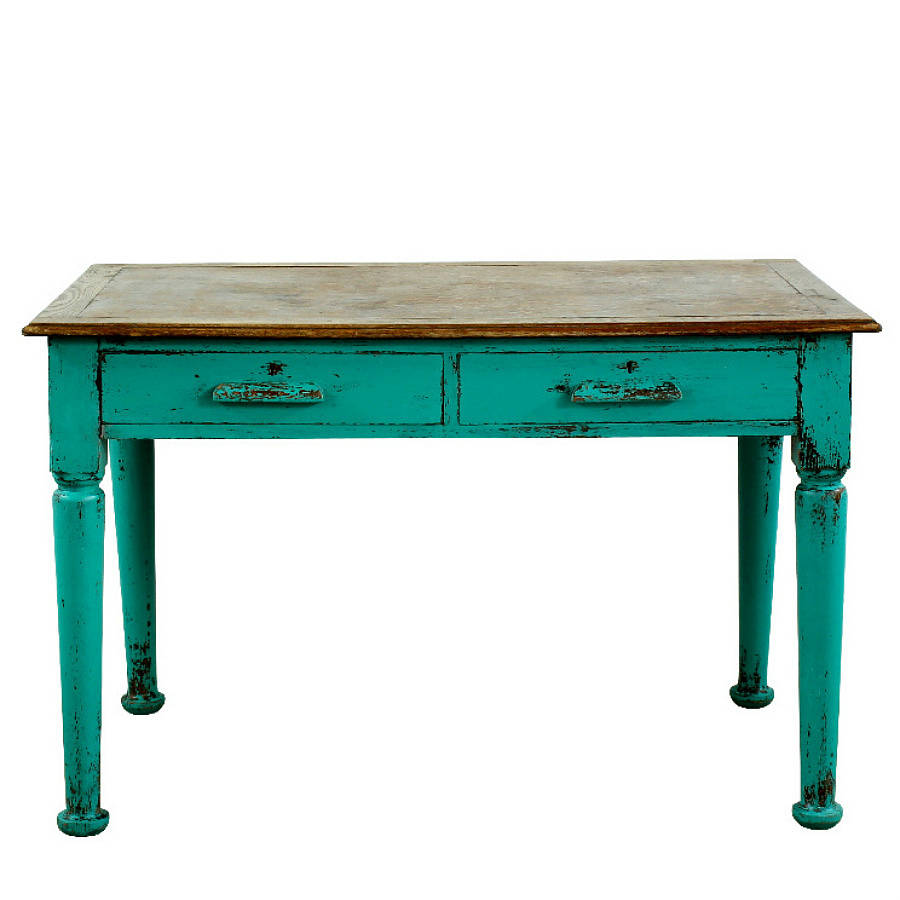 Bertie handpainted vintage table by ruby rhino for Table of tables