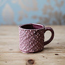Porcelain Mug With Textile Textured Design