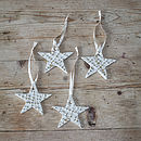 Star Christmas Decorations. Set Of Four
