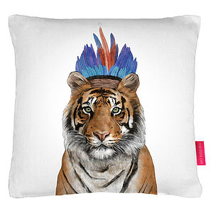 Tiger Print Cushion - children's cushions
