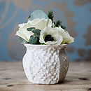 Porcelain Posy Vase With Fabric Design