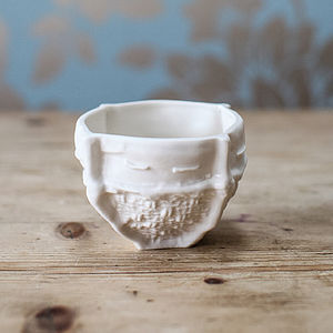 Sugar Bowl With Fabric Design