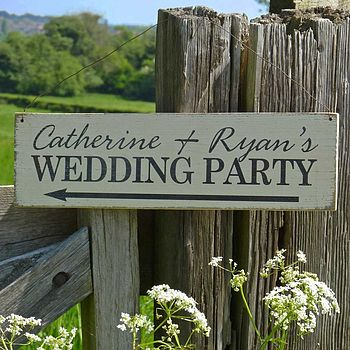 Personalised Handmade Wedding Sign