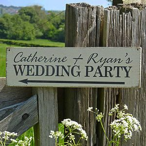 Personalised Handmade Wedding Sign - outdoor decorations