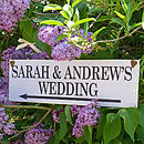 Personalised Handmade Wedding Sign