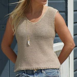 Women's Open Weave Cotton Tank Top - vests & camisoles