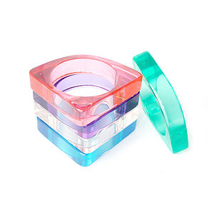 Transparent Lucite Bangle - bracelets & bangles