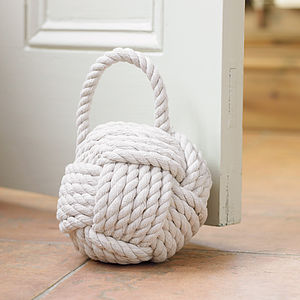 White Rope Door Stop - office & study