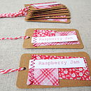 Set Of 10 Fabric Patch Handmade Jam Labels