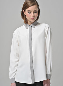 Silk Colour Block Shirt