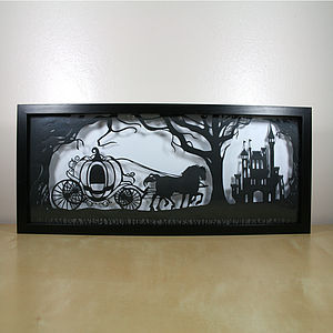 Cinderella's Dream Papercut - mixed media pictures for children