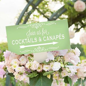 Personalised Enamel Party Sign - outdoor dining