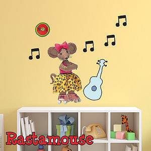 Rastamouse Scratchy Childrens Wall Sticker