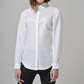 Long Sleeve Linen Shirt Mina