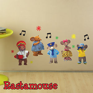 Rastamouse Character Pack Wall Sticker