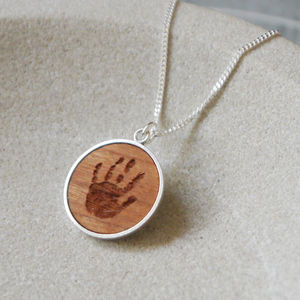 Personalised Wooden Handprint Necklace - jewellery for women