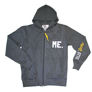 'Me' Zip Hoody Grey - men's fashion