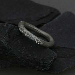 Eternity Ring In Silver Set With Diamonds - rings